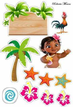 Moana Theme Birthday, Baby Birthday, Moana Party, Luau Party, Baby Party, Moana Printables, Birthday Party Decorations, Party Themes, Moana Hawaiian