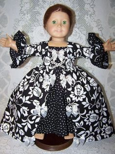 AMERICAN GIRL DOLL CLOTHES VICTORIAN DRESS for Felicity Elizabeth Mia Jess (04/20/2012)