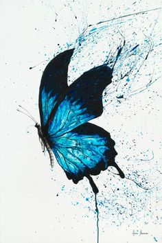 New horizons limited edition art print by ashvin harrison limited by saatchi art Butterfly Wall Art, Butterfly Painting, Butterfly Watercolor, Watercolor Paintings, Painting Art, Butterfly Sketch, Blue Painting, Easy Watercolor, Blue Butterfly Wallpaper
