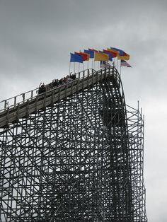 Voyage Wooden Roller Coaster at Holiday World, Santa Claus, IN