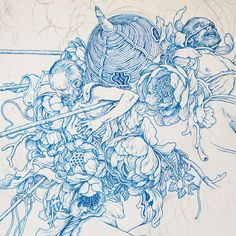 James Jean's illustration  I admire how detailed James Jean illustrated his…