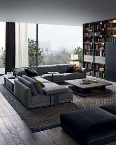 Grande divano per il soggiorno, Poliform divani 2015.
