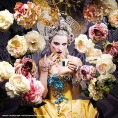 Abounding compositions which pay tribute to Renaissance and Rococo style for Lavazza. Have a piece of italian life and colour everywhere all around the world.    Fotografo : Finlay MacKay   Scenografo : Robin Brown. Costumista :. da Moritz Junge Stylist :. Hannah Teare Make-up artist : Hiromi Ueda. via http://creativeandlive.com