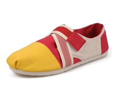 2013 New Arrival Toms Low-top Women casual shoes Red yellow  $68.00  $27.79  Save: 59% off