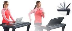 The ProForm version of a treadmill desk is unique in the sense that it is not only a treadmill desk, but with the flip of the console a heavy duty running treadmill.