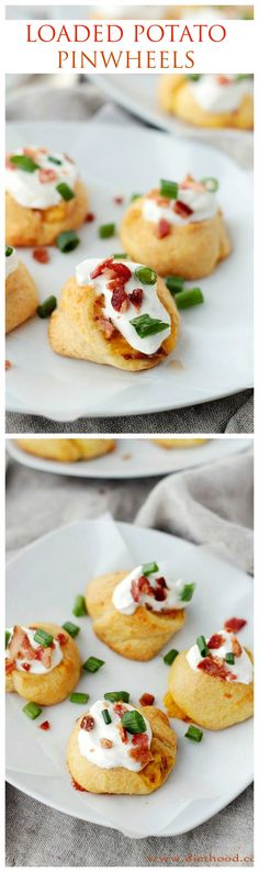 Delicious and flaky puffs made with Crescent Dinner Rolls and stuffed with potatoes, bacon, and cheese!