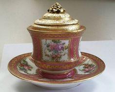Sèvres Porcelain inkwell.