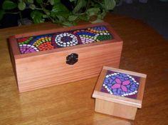 cajitas para el té cajitas de mosaicos madera,ceramicos,gemas mosaico rústico,mosaicos pulidos