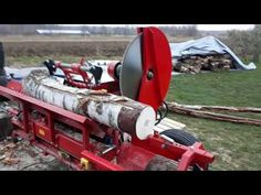 The Process Of Sawing Wood And Wood Processing. The Most Innovative Homemade Wood Splitting Machine Our channel talks about machines and creative inventions . Woods Equipment, Firewood Processor, Chainsaw Mill, Log Splitter, Creative Inventions, Saw Wood, Circular Saw Blades, Wood Shed, Front Door Design