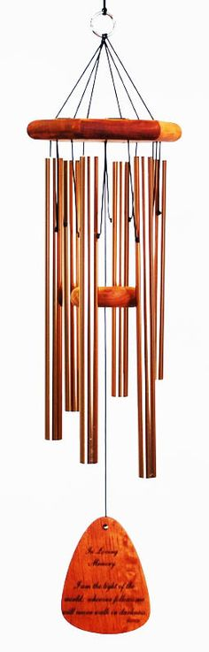 """What we have once enjoyed we can never lose"" -Helen Keller    In Loving Memory customizable windchime"