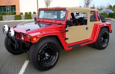 This kit car looks to be hybrid of a Baja bug and a Hummer But it also could represent what a modern VW Thing would have looked like had. Volkswagen 181, Volkswagen Thing, Archie Bunkers Place, Car Insurance Rates, Hummer H1, Beach Buggy, Chrysler Jeep, Expedition Vehicle, Vw Cars