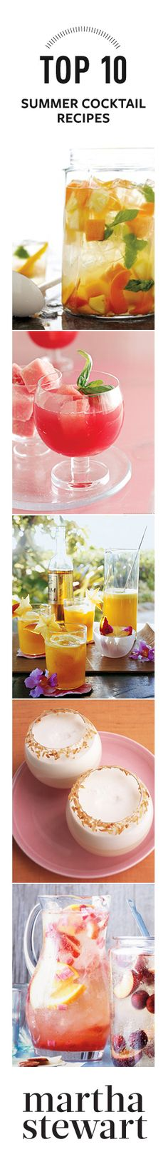 Top 10 Summer Cocktail Recipes from Martha Stewart #beach #summer #cocktail for the #beach #drinks #refreshing