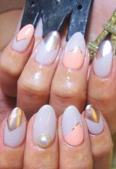mua nail (Muaneiru) | Metal ♪ Pink & Gray