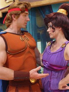 That time Meg was so not impressed with Hercules. | 25 Times Disney Face Characters Were Completely Adorable