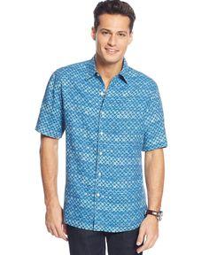 Tasso Elba Island Stripe Pattern Shirt