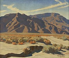 Lafayette Maynard Dixon, 'Desert Ranges,' 1940, Blanton Museum of Art