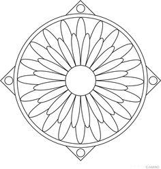 Free mandalas coloring > Flower Mandalas > Flower Mandala Design 3
