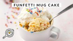 Funfetti Mug Cake, Single Serve Desserts, Cake Youtube, Cooking For One, Something Sweet, The Creator, Treats, Microwave Desserts, Mugs