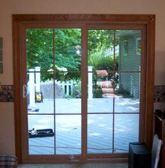 Wood grain Patio Door