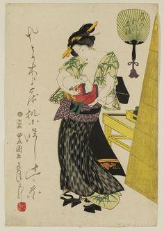 Utagawa Toyokuni I: Woman and Child - Museum of Fine Arts