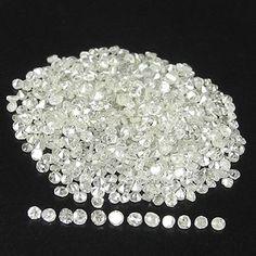 For Jewelery 5 00cts 1 0 1 5mm Single Cut Natural Loose Diamonds Lot | eBay