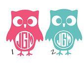 "5"" Owl Cute Car Sticker Monogram Decal Sticker"