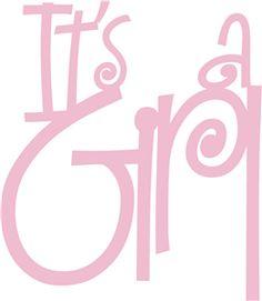Silhouette Design Store - View Design #10652: it's a girl