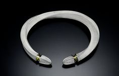 Mary Lee Hu, 1984, Choker #67, Fine and sterling silver with 14k gold