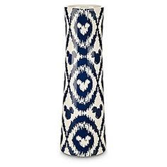 Mickey Mouse Icon Indigo Ceramic Vase   Disney Store Your home will bloom using our elegant ikat patterned vase detailed with hidden Mickey icons. Match this beautiful indigo ceramic vase with the entire collection, each item sold separately.