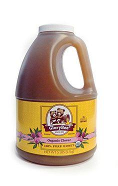 GloryBee Organic Clover Honey, 5 Pound - http://goodvibeorganics.com/glorybee-organic-clover-honey-5-pound/