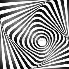 Yükle - Dalgalı rotasyon hareket yanılsaması. Op sanat tasarım. Vektör sanat — Stok İllüstrasyon #66252967