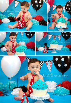 1 Year Boy Birthday Cake Smash Radio Flyer-Inspired #cake smash #birthday #bellaroseportraits