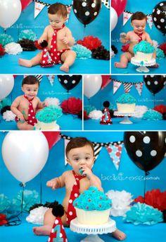1 Year Boy Birthday Cake Smash Radio Flyer-Inspired #cake smash #birthday #bellaroseportraits