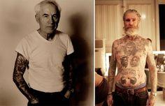 Com a idade, a pele sofre alterações, bem como a tinta usada na tatuagem. O tempo e a gravidade fazem com que a pele muitas vezes fique enrugada e o desenho acaba perdendo sua cor. Veja fotos que estavam espalhadas pela internet de vovôs e vovós tatuados que, apesar dos efeitos do tempo, ainda mostram, orgulhosos, suas tattoos