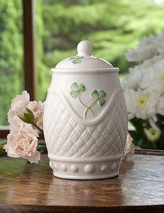 "Belleek Basketweave Covered Pot    $35      4"" Irish Pottery, Belleek China, Belleek Pottery, Irish Cottage, Irish Pride, Irish Blessing, Luck Of The Irish, Basket Weaving, St Patricks Day"