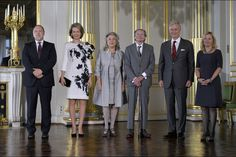 Queen Mathilde and King Philippe attended the award ceremony of Dutch Literature (Prijs der Nederlandse Letteren) at the Brussels Royal palace in Brussels, Belgium, 08 October 2015.