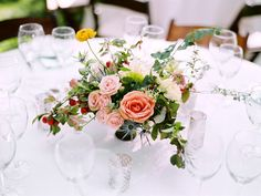 Romantic tablescape ideas.  Utah backyard wedding, photo by Leo Patrone.