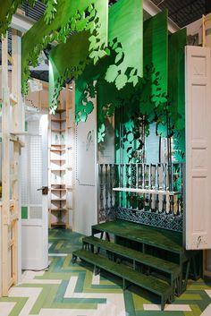 G´vine en ARCO 2016. Image © Miguel de Guzmán Sala Vip, Noritake, Lounge Areas, Graphic Design, Architecture, Photography, Arch, Shop Windows, Glass Display Case