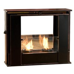 Portable Indoor / Outdoor Fireplace in Black. $120 @ joss & main