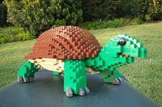 LEGO Sculpture Turtle #lego #legoturtle http://Adopt-A-Brick.com