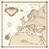 Vintage Europe Map Vertical - Download From Over 64 Million High Quality Stock Photos, Images, Vectors. Sign up for FREE today. Image: 9046464