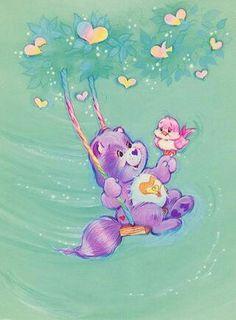 Care Bear Cousins: Bright Heart Raccoon on a Swing