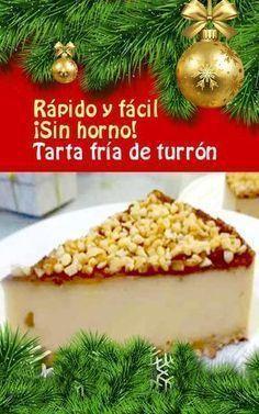 Tarta fría de turrón, rápida y fácil. ¡Sin horno! #Navidad #tarta #turrón #receta