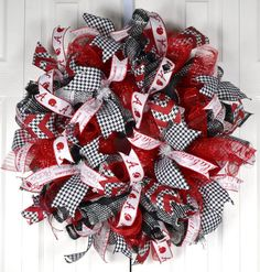 We encourage you to peruse our shop to find handcrafted designer floral wreaths for your front door décor. Alabama Football Wreath, Alabama Wreaths, Sports Wreaths, Mesh Wreaths, School Wreaths, Front Door Decor, How To Make Wreaths, 4th Of July Wreath, Special Gifts
