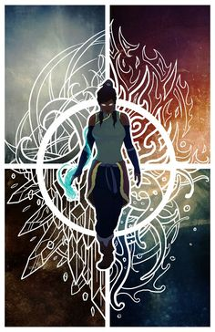 Korra all 4 elements Mother chucker this is good