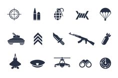 12 Military Icons by Creative VIP on Creative Market