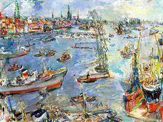Oskar Kokoschka, Hamburg, Hafen II on ArtStack #oskar-kokoschka #art