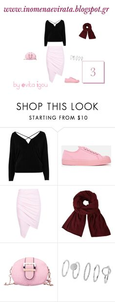 """""""3rd Outfit - 5 Outfits Based On Black Cold Shoulder Strappy Batwing Top From RiverIsland"""" by evitaigou on Polyvore featuring River Island, Novesta, Boohoo, John Lewis, strappy, RiverIsland and blacktop"""