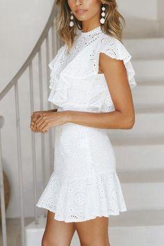 White Lace Sleeveless Backless O-Neck See Through Transparent Dress Grad Dresses, White Maxi Dresses, Sexy Dresses, Dresses For Sale, Casual Dresses, Fashion Dresses, White Dress, Summer Dresses, Stylish Dresses