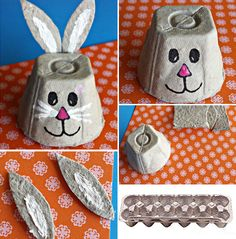Cute Kids Crafts, Easter Crafts For Kids, Preschool Crafts, Diy For Kids, Easy Crafts, Arts And Crafts, Friend Crafts, Egg Carton Crafts, Paper Roll Crafts